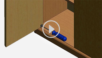 How to install and adjust doors with pivot hinges, for futher assistance call customer service