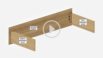 How to assemble the T-slot box drawer, for futher assistance call customer service