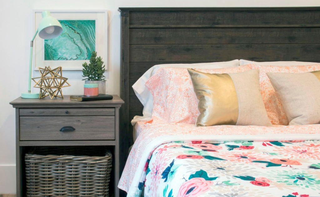 Barrister Lane Night Stand and Carson Forge Headboard