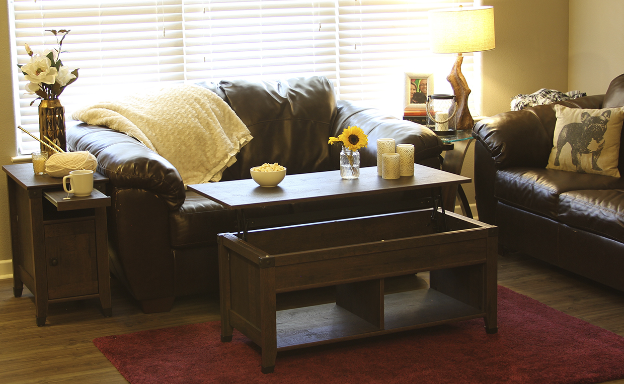 Carson Forge Lift-top Coffee Table, Carson Forge Side Table