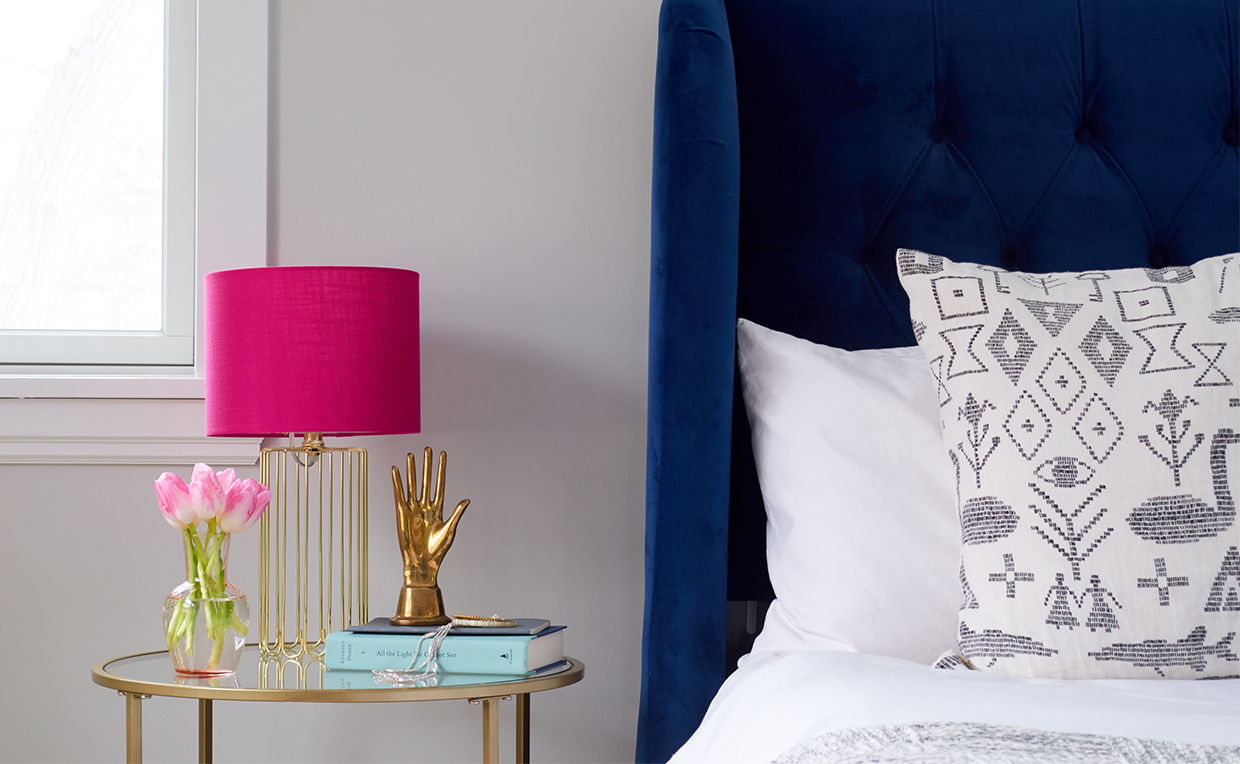 glam bedroom nightstand