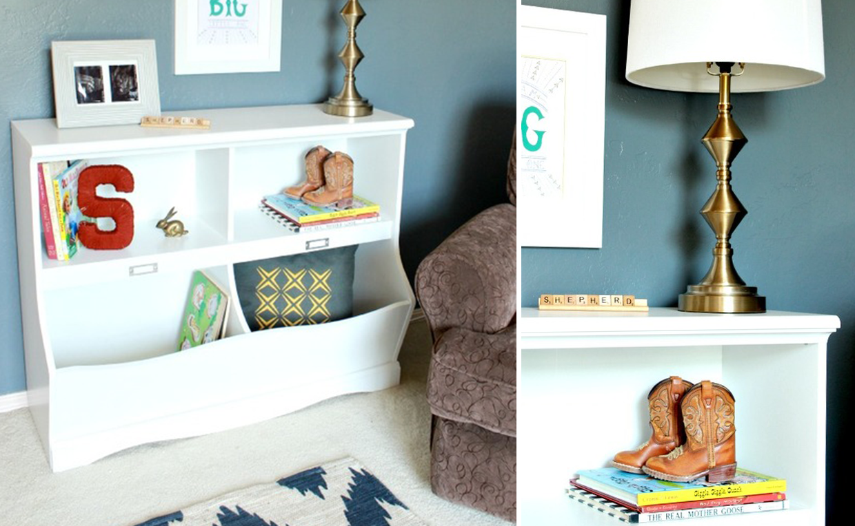 cubby bookcase for kids' bedroom toy storage
