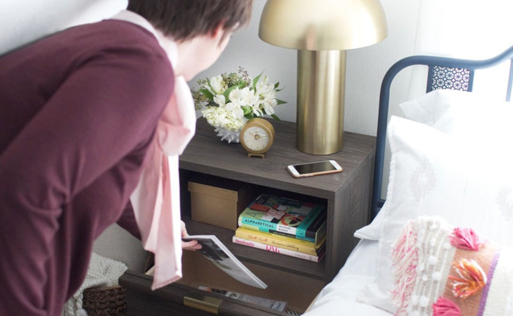 International Lux Night Stand with deep drawer storage