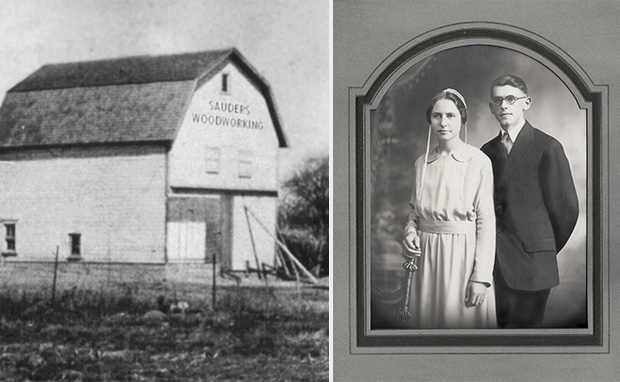 Sauder Woodworking barn, Erie and Leona Sauder