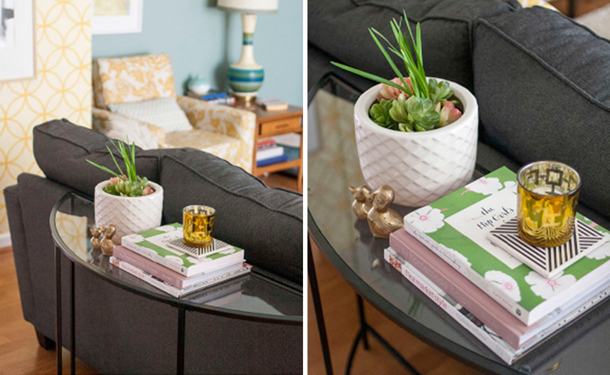 sofa table in living room. Living Room Seating With Sofa Table In A