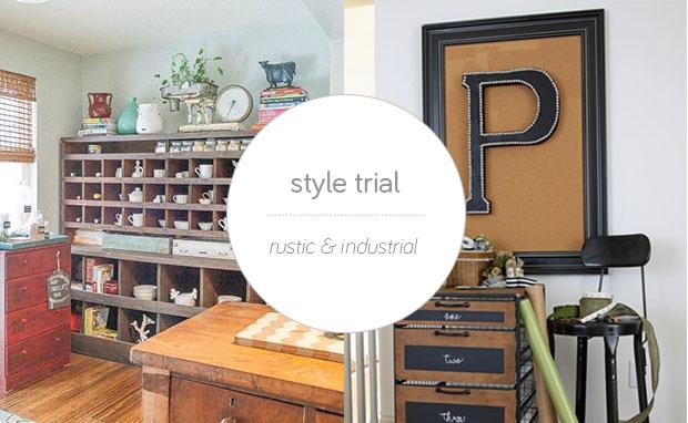 industrial rustic design furniture. Style Trial: Rustic And Industrial Industrial Rustic Design Furniture