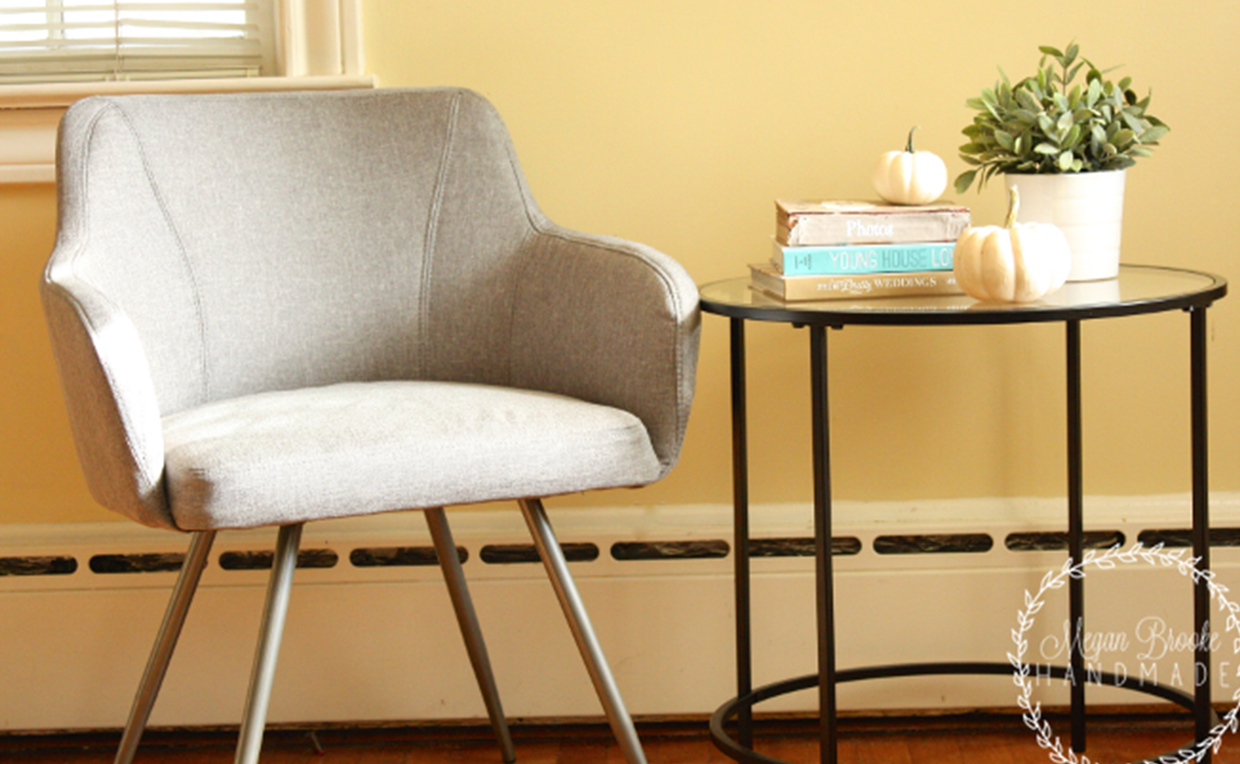 Soft Modern Round Side Table, Soft Modern Occasional Chair
