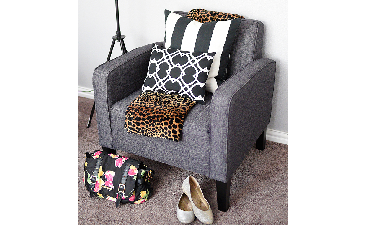 accent seating for bedroom storage of everyday items