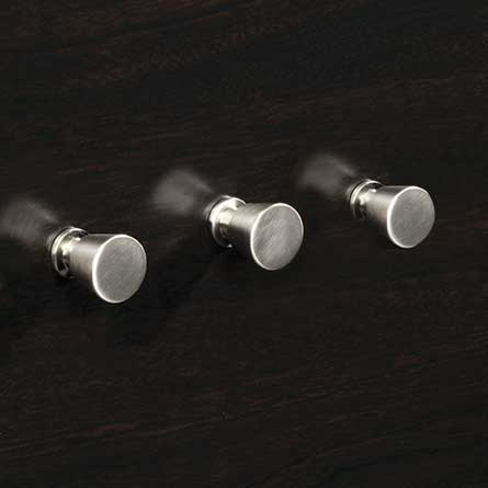 Contemporary Nickel Round Metal Knob Set