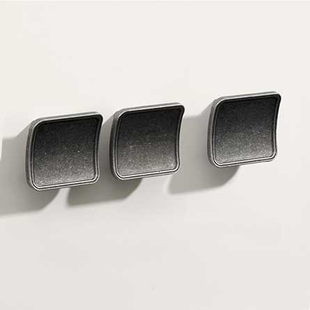Contemporary Barrel Pewter Square Knob Set