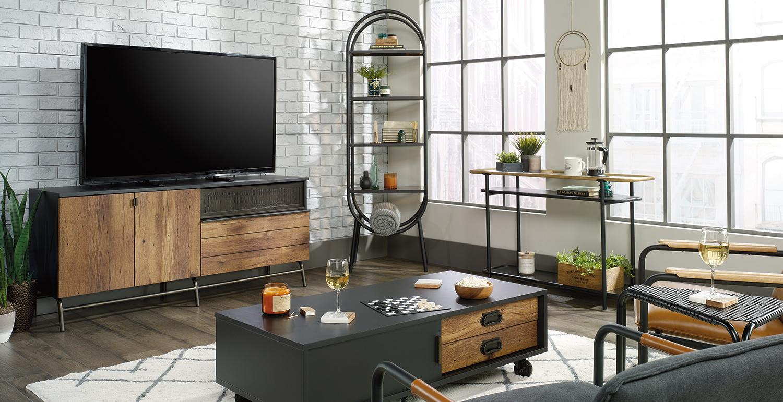 Boulevard Cafe Mid Century Modern Minimalist Furniture Sauder