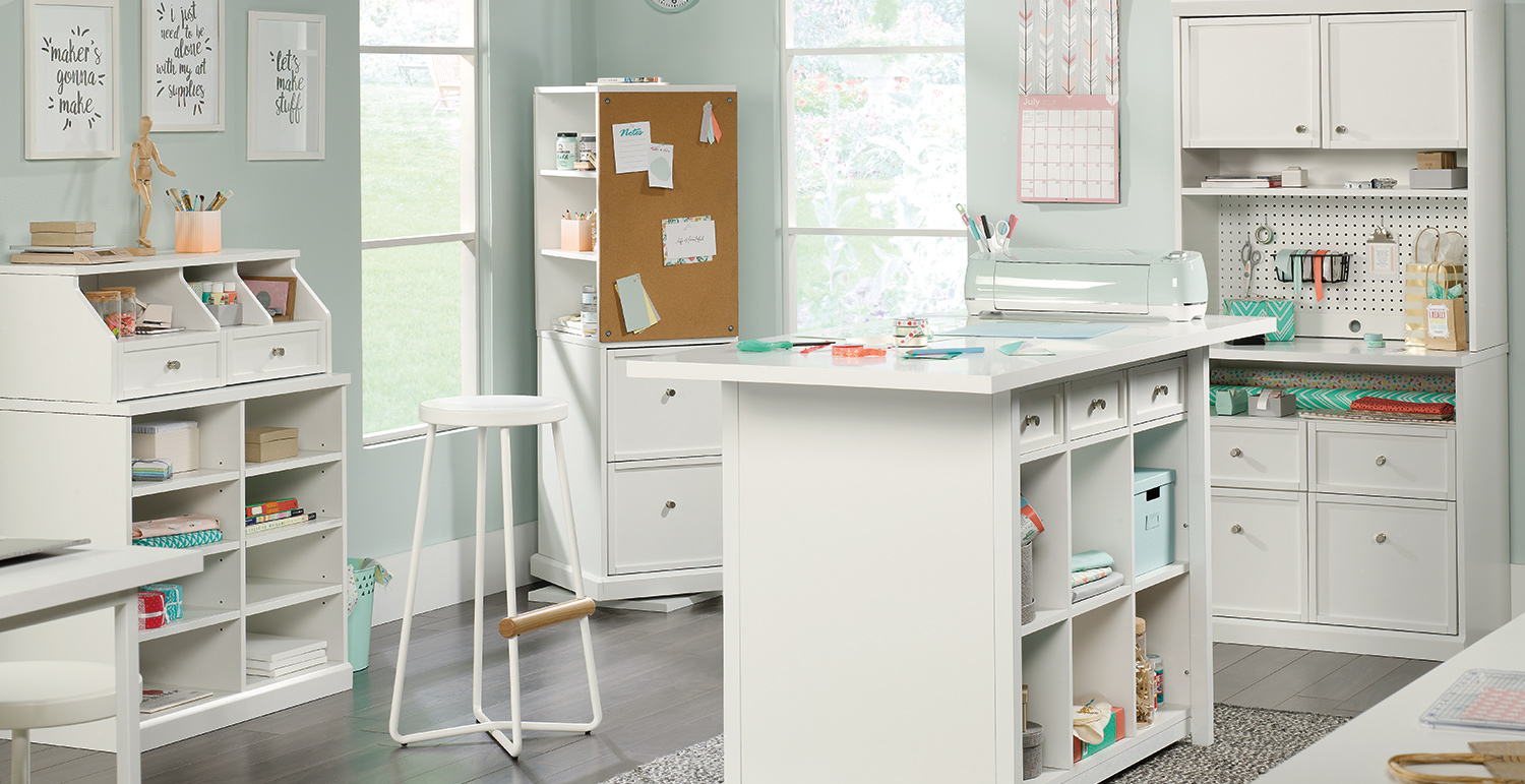 Craft Pro Series Craft Room Workspace And Storage Furniture