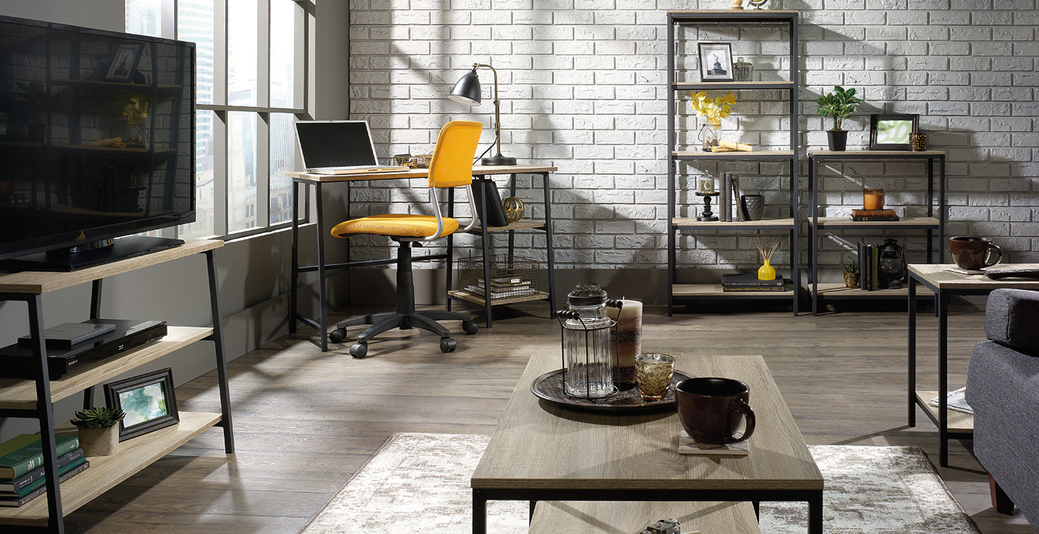 Functional Apartment Furniture: Urban Industrial Living Room ...
