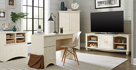 Cottage Style Bedroom Furniture In Antique Finish Harbor