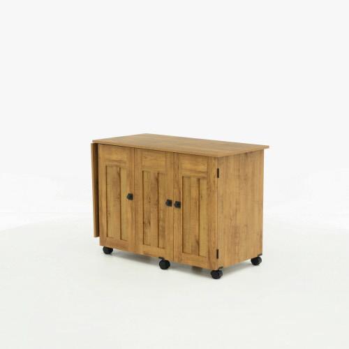 Sauder Select Pine Finish Sewing Craft Cart 414110