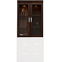 Hutch With Glass Doors 408294