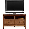 Oak Finish Corner TV Stand 410627