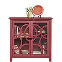 Decorative Storage and Display Cabinet with Doors 416840