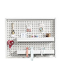 Wall Mounted Pegboard With Trays 423411