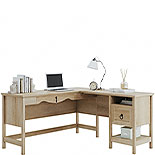 Orchard Oak L-Shaped Desk with File Drawer 425128