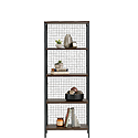 Industrial 4-Shelf Metal & Wood Bookcase 425764