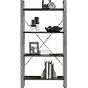 Contemporary 4-Shelf Metal & Wood Bookcase 425770