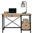 Industrial Metal & Wood Pedestal Desk 425907