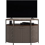 Mid-Century Modern Wood & Metal TV Stand 426022