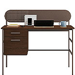 Modern Metal and Wood Pedestal Desk 426025