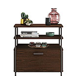 Modern File Cabinet with Open Shelves 426027