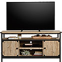 Industrial Metal & Wood TV Credenza with Doors 426152