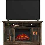 TV Credenza with Fireplace & Glass Doors 426164