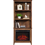 3-Shelf Bookcase with Electric Fireplace 426165