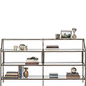 Glass-Top Console Table with Bronze Finish 426167
