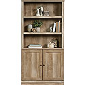 Farmhouse Style 5-Shelf Bookcase with Doors 426413