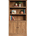 Transitional 3-Shelf 2-Door Bookcase 426414