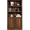 Transitional 3-Shelf Bookcase with Doors 426419