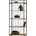 Tall Industrial 5-Shelf Bookcase 426435