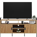 Wall-mounted Credenza TV Stand with Doors 426437