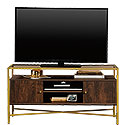 Contemporary Glass-Top TV Credenza with Doors 426450