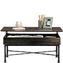 Industrial Lift-Top Coffee Table with Storage 426503