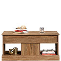 Lift-top Coffee Table with Open Shelf Storage 426627