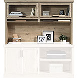 Prime Oak Home Office Hutch with Storage 427022