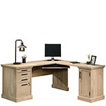 Prime Oak L-Shaped Desk with Storage 427163