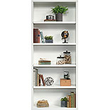 White 5-Shelf Living Room Bookcase 427260