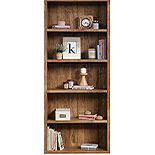 5-Shelf Wood Bookcase in Sindoori Mango 427261