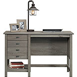Coastal Single Pedestal Desk with Storage 427308