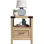 Wood Side Table with Drawer in Orchard Oak 427326