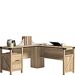 Orchard Oak L-Shaped Home Office Desk 427328