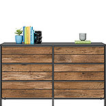 Industrial 6-Drawer Dresser with Metal Frame 427351